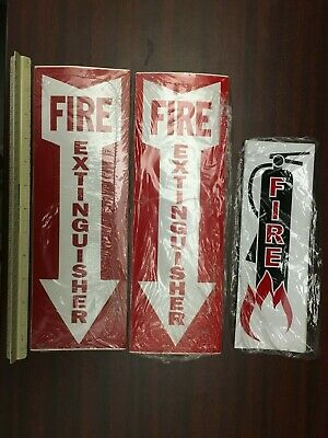 Fire Extinguisher Signsvinyl Stickers Bulk 50 Pcs. 4 X 12  25 Pcs. 3 X 9