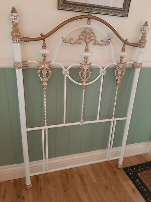 Heavy Solid Ornate Iron Single Headboard