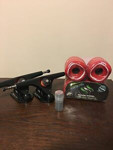 70mm (78A) shark Wheels, Free Soul Trucks and Bearings