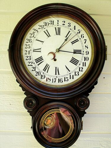 "Antique Ingraham Wall Clock ""Ionic"" 1911"