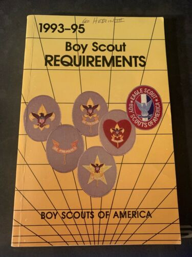1993-95 Boy Scout Requirements Boy Scouts Of America Book