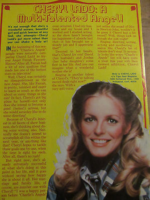 Cheryl Ladd, Charlie's Angels, Full Page Vintage Clipping
