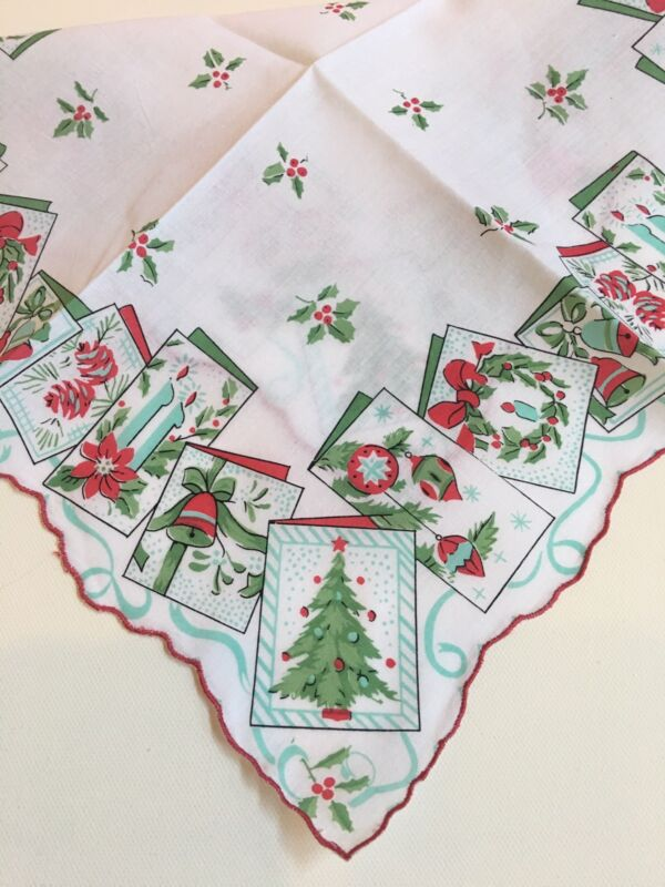 New Christmas Handkerchief Hankie - Holiday Cards