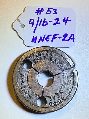 Lincoln-thread Ring Gage- 916-24 Unef 2 A Go Pd .5342