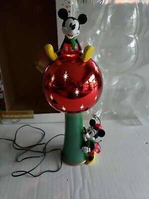 Disney Store Mickey & Minnie Mouse Light-Up Star Christmas Tree Topper Red