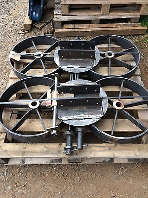 Shepherds hut wheels, Axles and Turntable Kit