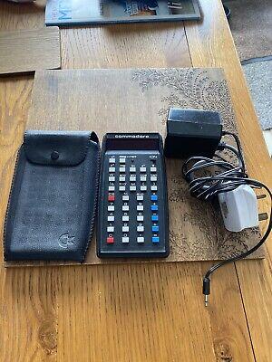 Vintage Commodore SR-1400 Calculator (Silver Metal Faceplate) 1970's **RARE**