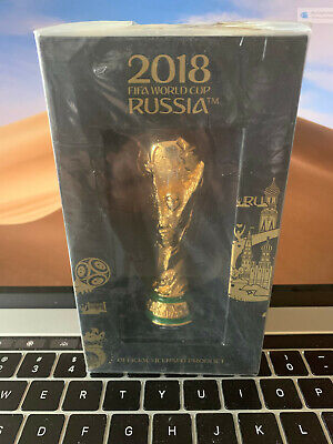 NEW SEALED Official 2018 Russia FIFA World Cup Metal Trophy - Paper Weight $100