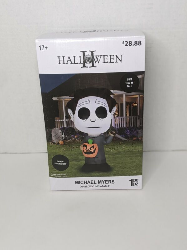 HALLOWEEN 5 FT. TALL LED AIRBLOWN INFLATABLE MICHAEL MEYERS, NEW.