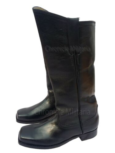 Cavalry/ artillery black leather boots American civil war riding boots