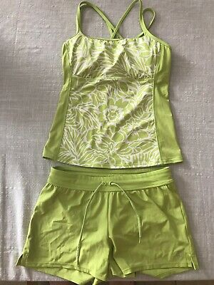 NEW! Land's End Lime Green 2 piece Tankini, Size 2 (NWOT)