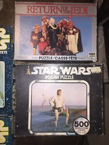 4 Vintage Star Wars Puzzles from the 70's