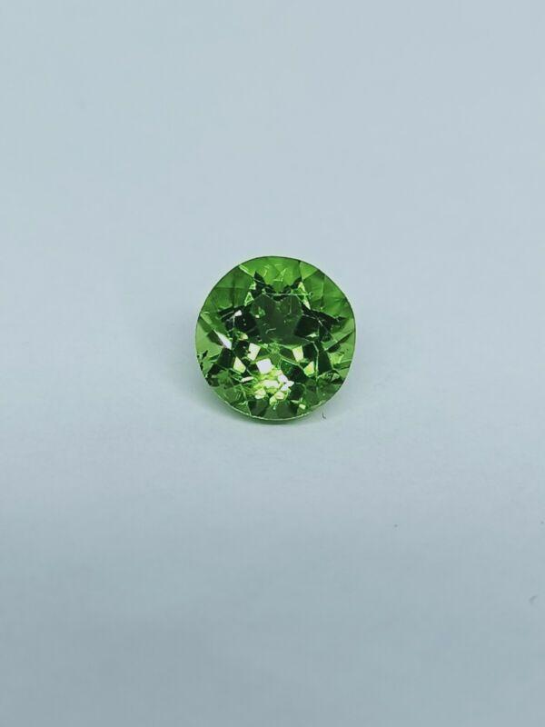 Large 2 Carat Peridot Gemstone Natural Vivid Green Round Cut