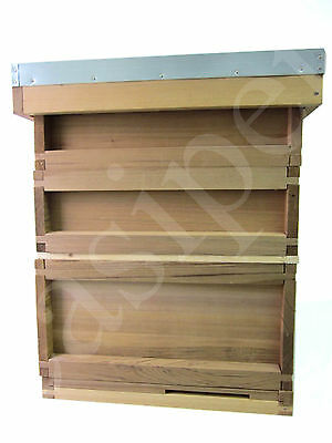National Bee Hive Bee Keeping Cedar New 2 Super 1 Brood with frames and wax 612