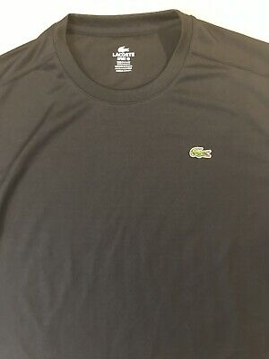 LACOSTE ~ Sport Wear Performance Crew Neck Shirt ~ NAVY ~ Sz 6 (Large)