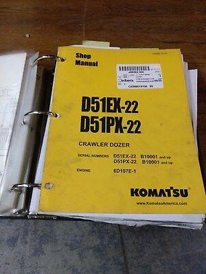 Komatsu D51ex-22 D51px-22 Dozer Shop Manual