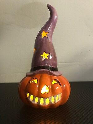 Halloween Pumpkin Table LED Light Flame Simulation Lamp Lantern Decor 🇺🇸 FAST!