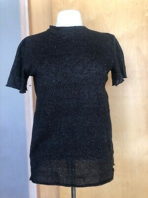 The Elder Statesman Cashmere linen Relaxed fitting T shirt sz xs
