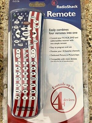 Radio Shack Remote Control Combo TV, VCR, DVD and Satelite American Flag