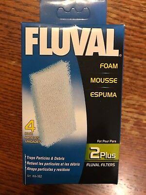 Fluval 2 Plus Foam - Fluval 2 Plus 4 pack Foam Pad A182 A-182