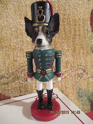 RAT TERRIER  ~ NUTCRACKER DOG SOLDIER ORNAMENT #92