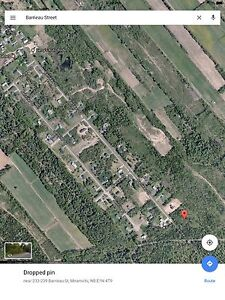 Large lot on Barrieau St. In Douglasfield. Miramichi , NB