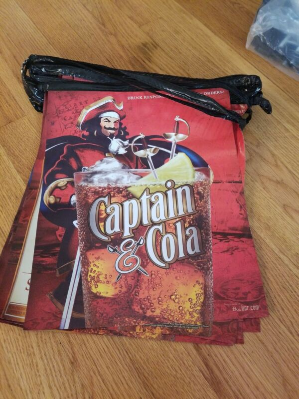 Captain morgan rum & cola 16 banners pennant party bar game room new