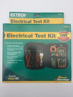 Extech Tk430 6 Piece Electric Test Kit Multimeter And Clamp Meter Kit