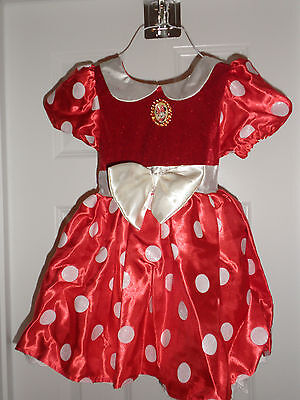 Disney Store Original Style Minnie Mouse Costume RED Dress  NEW XXS