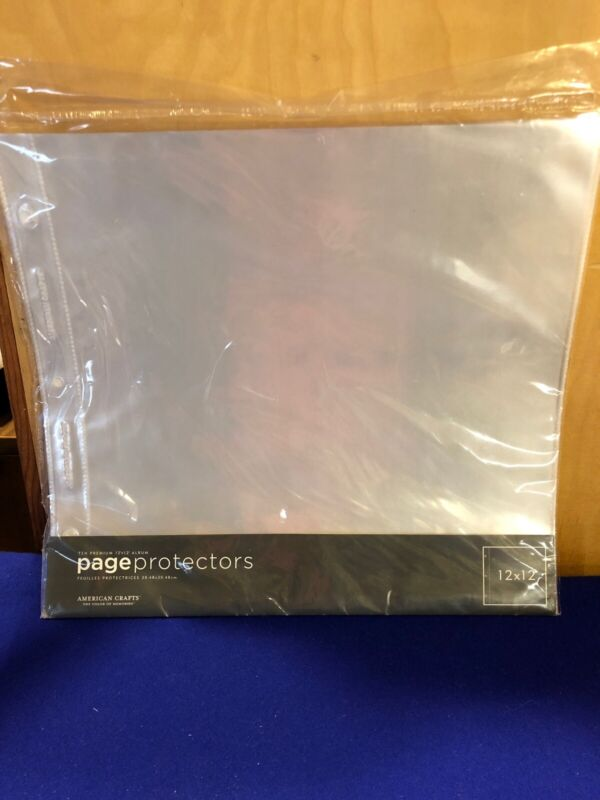 """American Crafts Page Protectors Top-Loading 12""""X12"""" 10/Pkg"""