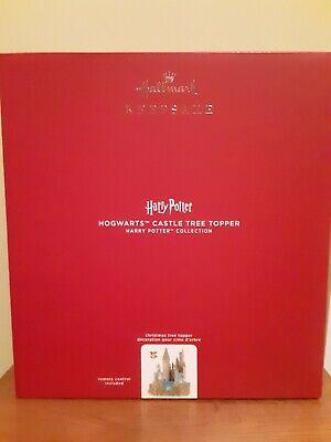 Harry Potter Hogwarts Castle 2020 Hallmark Keepsake Christmas Tree Topper New HP