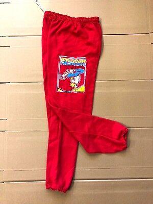 SCRAM SKATES - FEJJ SWEATPANTS BOTTOMS - RED - S M - SKATEBOARD PUNK 80S (80s Punk Style Clothing)
