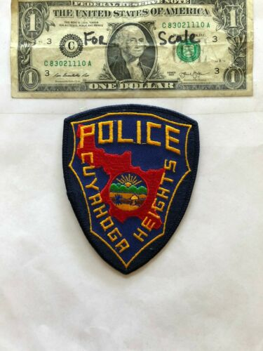 Cuyahoga Heights Ohio Police Patch un-sewn mint shape