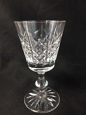 """Excellent Edinburgh Scottish Crystal Highland 5 3/8"""" Wine Goblet Signed Highland Wine Crystal"""