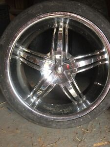 Chrome Forte Rims with performance tires
