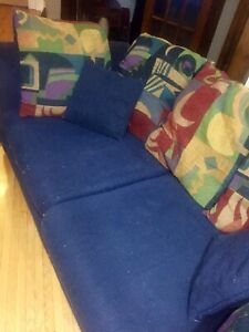 Comfy blue couch