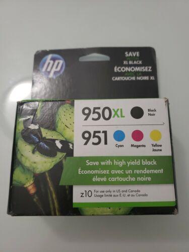 Genuine HP 950XL Black 951 Cyan Magenta Yellow Ink Cartridges Dated 2019 - $73.91