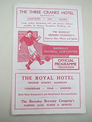 Barnsley V Bristol City  1955/6