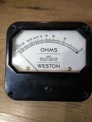 Weston Ohm Meter Vintage Instrument
