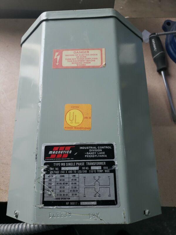 MAGNETICS Transformer, QX90010 5KVA 480/240/120