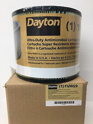 Dayton 1vhg9 Wetdry Vacuum Ultra Duty Antimicrobial Cartridge Filter