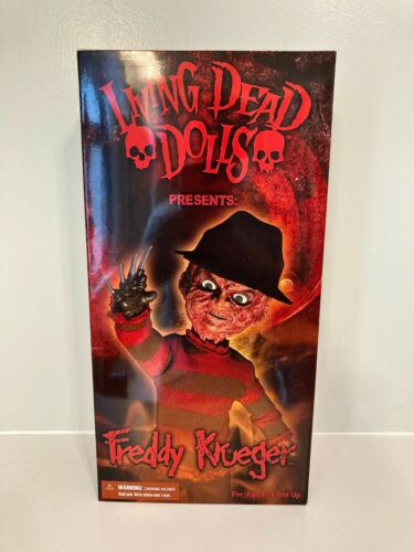MIB Mezco Living Dead Dolls Freddy Krueger Nightmare on Elm Street Sealed 2010