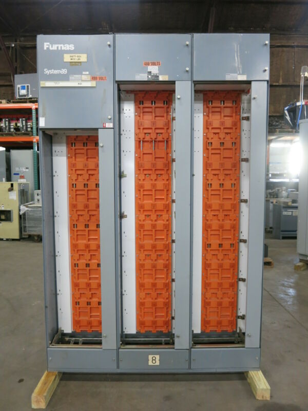 Furnas System 89 3x Motor Control Center Sections 800A / 300A Main Lug Siemens