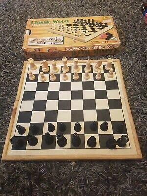 3in1 Chess Checker Backgammon Set segunda mano  Embacar hacia Mexico