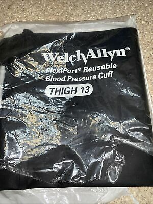 New Welch Allyn Flexiport Reusable Blood Pressure Cuff Reuse-13 Thigh 13