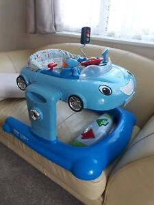 Mothercare, convertible 3 in 1 blue car walker