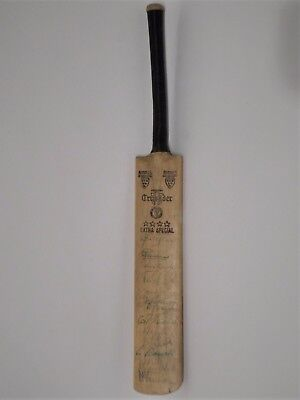 Signed Mini Cricket Bat - South African Touring Team to England in 1960