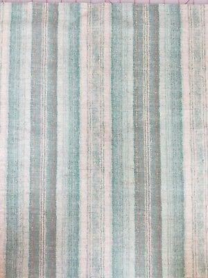 Stripe Valance (Aqua Grey Stripe curtain)