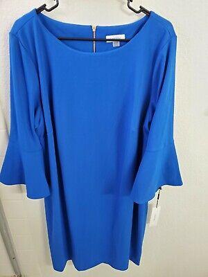 Calvin Klein Women's Plus Size Peplum Sleeve Sheath Dress Capri Size 20W