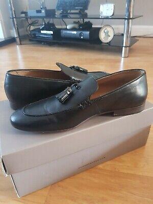 Hudson Black Tassel Loafers - UK10
